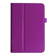 Folio Leather Case Stand Cover For ASUS MeMO Pad FHD 10 ME302C Tablet Purple