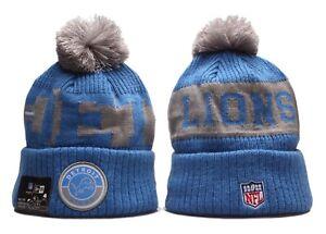Detroit Lions NFL Winter Pom Knit Beanie Cap Hat