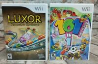 Nintendo Wii Video Game Bundle~ 101 n 1 Party Megamix & Luxor Pharaohs Challenge