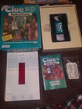 Clue II: Murder in Disguise VHS VCR Board Game Parker Brothers 1987 Complete