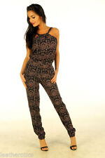 Cotton Long Sleeve Floral Jumpsuits & Playsuits for Women