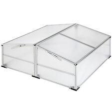 Double aluminium cold frame growhouse 102 x 102 cm garden hothouse greenhouse
