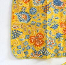 4 serviettes jaunes rétro