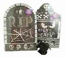 3 Pc Halloween Tombstones Glitter Crow Bundle Indoor/outdoor Yard Party Decor