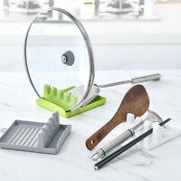 Spatula Ladle Shelf Spoon Pot Lid Holder Rack Cover Pad Kitchen StandWFIT YAN