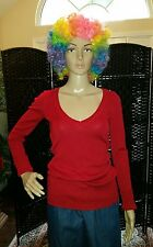 Aeropostale Red Cherry V-Neck Lightweight Sexy Sweater-Long Sleeve-Sz. M-NEW-NWT