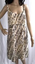 Covington Dress Size 14 Sexy Abstract Animal Semi-Sheer Ivory Cat Print Sheath