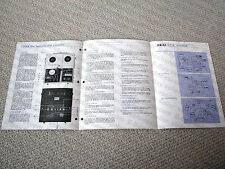 Akai VT-700 reel to reel video tape recorder (VTR) brochure