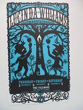 Lucinda Williams Fillmore Poster Original Mint Bill Graham F599 Hugh D' Andrade