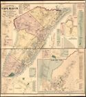 """20"""" x 24"""" 1872 Map Of Topographical Map Of Cape May County New Jersey"""