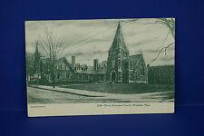 Vintage 3228-Christ Episcopal Church,Waltham, Massachusetts,B&W Post Card, Pc3