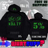 RICH PIANA Love It/Kill It Hoodie + 5% Logo Back & Hood Print SMALL Bodybuilding