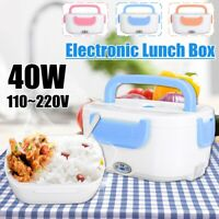 40W 12V/110V Portable Electric Heated Heating Lunch Bento Box Home Food