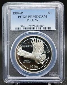 1994 P Prisoner of War Commemorative Silver Medal PCGS Certified PR69DCAM
