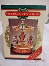 Vintage 1998 Animated Carousel Merry go Round Mr. Christmas unused
