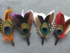 Feathers Fedora Lincoln Victorian hat.  Accessories Women Men Unisex