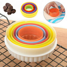 6 PACK COOKIE SCONE CUTTERS TWIN EDGE CRINKLE ROUND CAKE PASTRY BAKE MOULD SET