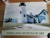 Portland Lighthouse by Edward Hopper Museum Art Print Poster maine