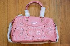 NWT $498 Coach F21929 Ashley Lace Leather Satchel Handbag Purse Rose