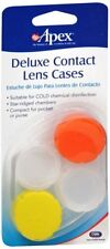Apex Deluxe Contact Lens Cases 2 Ct - Colors may vary (8 Pack)