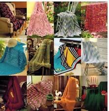 Easy Afghans Calendar 12 Crochet PATTERNS 2014 NEW  Warm Throws Cozy Blankets