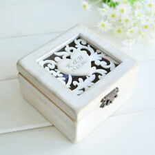 Personalized Ring Box Rustic Shabby Chic Wedding Ring Holder Ring Bearer Box