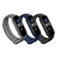 3x Armband Ersatz Schwarz Blau Grau Xiaomi Mi Band 5 Fitness Sport Tracker