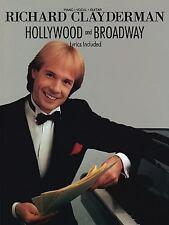 Richard Clayderman Hollywood & Broadway Piano Vocal Guitar Book NEW!