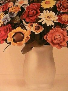 "Jeff Koons 1991 ""Large Vase of Flowers"" Post Card 6.3x4.5 Small Modern Art Print"