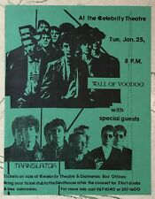 ORIGINAL Punk Concert Flyer WALL OF VODDOO & Translator Phoenix Celebrity 1983