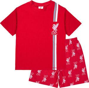 Liverpool FC Boys Short Pyjamas, LFC Summer Football Pjs, Official Merchandise