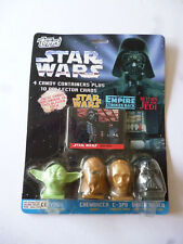 Star Wars 4 Candy Containers Plus Cards Topps 1995 &