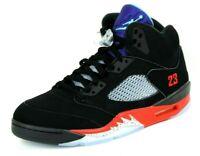 Nike Air Jordan 5 Retro CZ1786 001 Basketball Mens Shoes Black Leather Sneakers