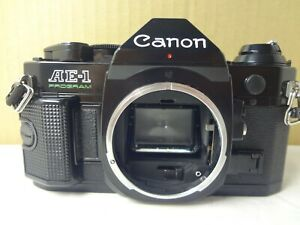 Canon AE-1 Program black w/manual light seal renew from Japan Excellent +++ 2973