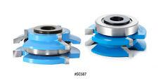 Amana Reversible Bevel-Shaker Stile/Rail Shaper Cutter Set