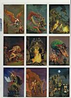 ROWENA 1993 FPG LIMITED EDITION GOLD HOLOGRAM CASE TOPPER CARD SET IN HOLDER