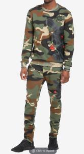 BKYS Black Keys Mens Lucky Charm Track Suit Pants Joggers Sweatshirt CAMO XL