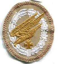 WWII Luftwaffe Fallschirmjager Paratrooper Badge Tropical Afrika Patch Whit/LG