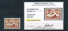 Danzig 20 Mark Flugpost 1923 Farbübersättigung Michel 118 Befund (S14140)