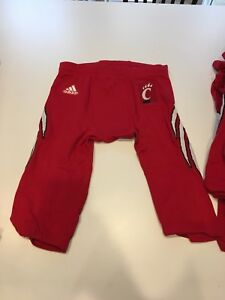 Game Worn Used Cincinnati Bearcats Football Pants Adidas Size Large