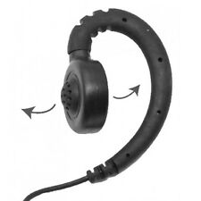 1-Wire Swivel Headset PTT Mic Large Speaker for Kenwood 2-Pin Handheld Radios
