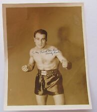 Welter Weight Boxer Mickey Paul Signed  8x10  Picture