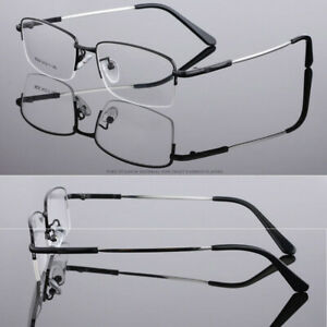 Glasses for Near-Sighted Mens Ladies Metal Half Frame -0.50 0.75 1.00 to 6.00
