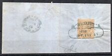 Ionian Islands 1859 (1/2d) orange on part cover FU