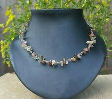 *Freedom Tree* Mixed Natural  Gemstone Necklace Hand Made Chakra /Healing