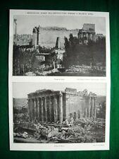 Nel 1921 Siria Balbeck Tempio di Giove e Bacco Firenze, Torre Amedei Via Terma