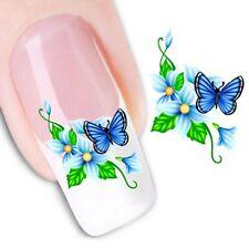 Nail Art Sticker Water Decals Transfer Stickers Flowers Butterflies (XF1058)