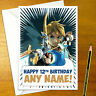 BREATH OF THE WILD Personalised Birthday Card - link zelda legend personalized