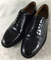 Cole Haan Caldwell Men's Black Leather Cap Toe Dress Shoes C08330 Size 8.5 D
