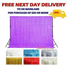 Rosette 3D Backdrop Curtain Rose Blossom Baby Photoshoot Background Wall Hanging